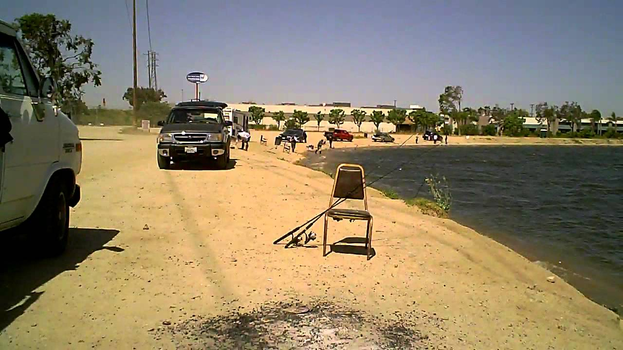 Fishing santa ana river lakes youtube for Santa ana river lakes fishing