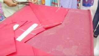 How To Cut Churidaar Salwar-Simple Cutting Method Of