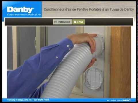 Climatiseur portable fen tre horizontale youtube for Climatiseur pour fenetre