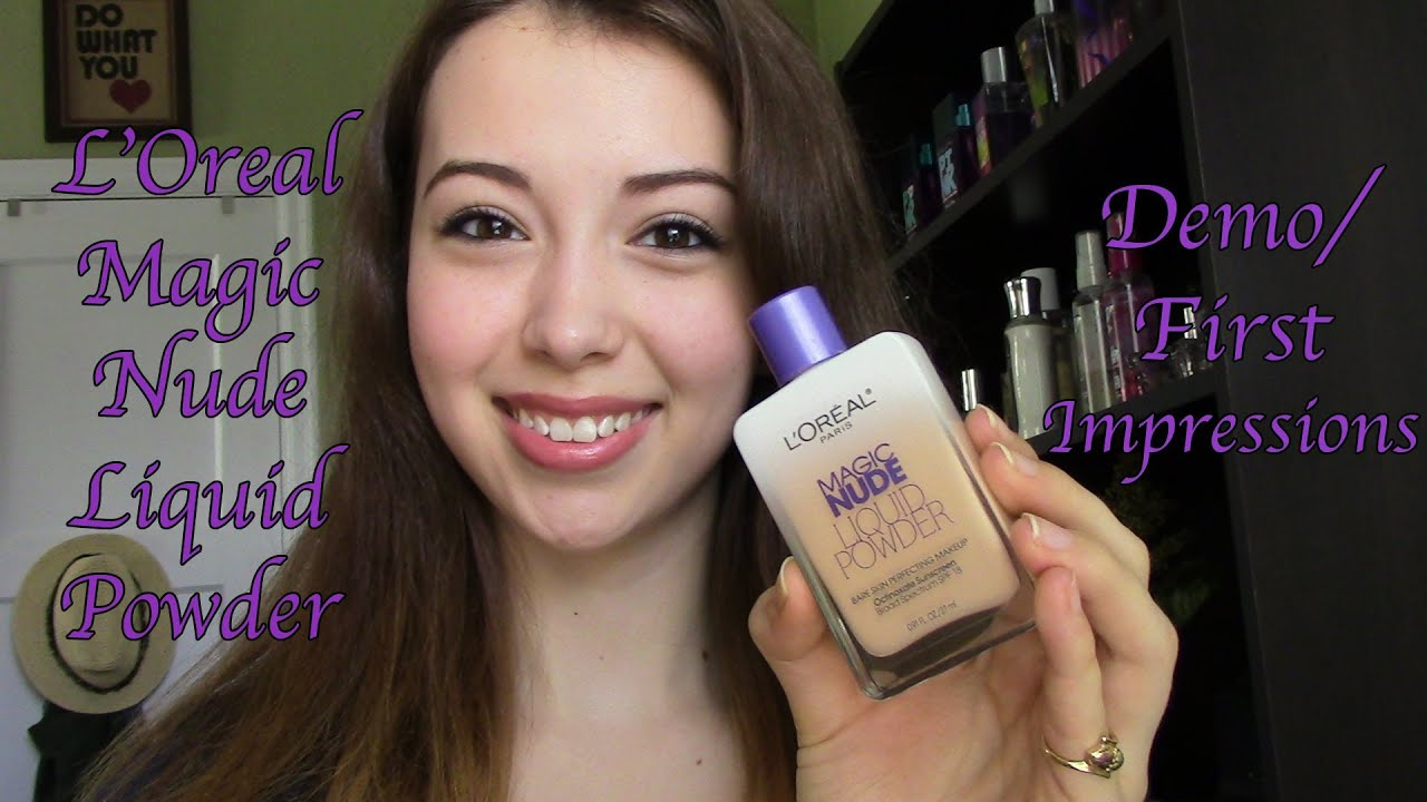 LOreal Magic Nude Liquid Powder Foundation Review & Demo