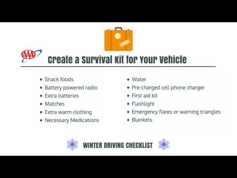AAA's Winter Driver Checklist
