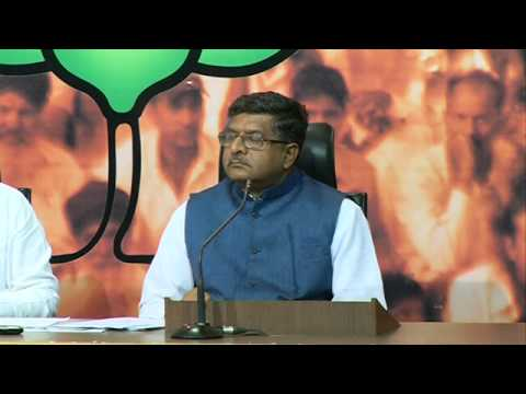 BJP Press by Shri Ravi Shankar Prasad on Indian Economy : 29th March 2014