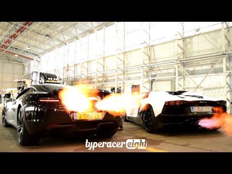 McLaren MP412C & Lamborghini Aventador FLAME BATTLE