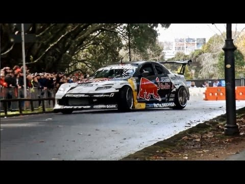 Mad Mike Red Bull RX8 Drift Demo - WRC Brother Rally New Zealand 2012