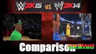 WWE 2K15 Vs. WWE 2K14: John Cena 's Entrance Comparison