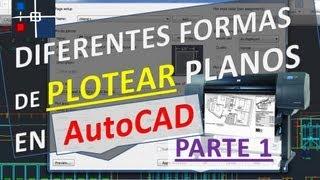 Como Imprimir Un Plano En AutoCAD Asignando Grosor Por