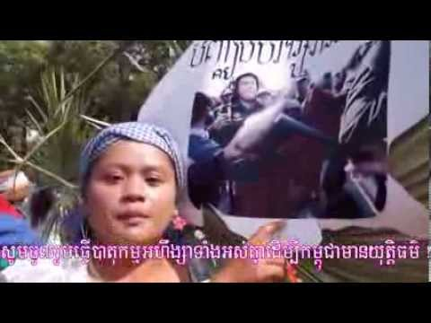 Boeungkak Community Protests March to Demand for Justice