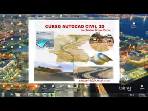 Curso de Autocad Civil 3d 2014 video tutorial plano topografico Introduccion