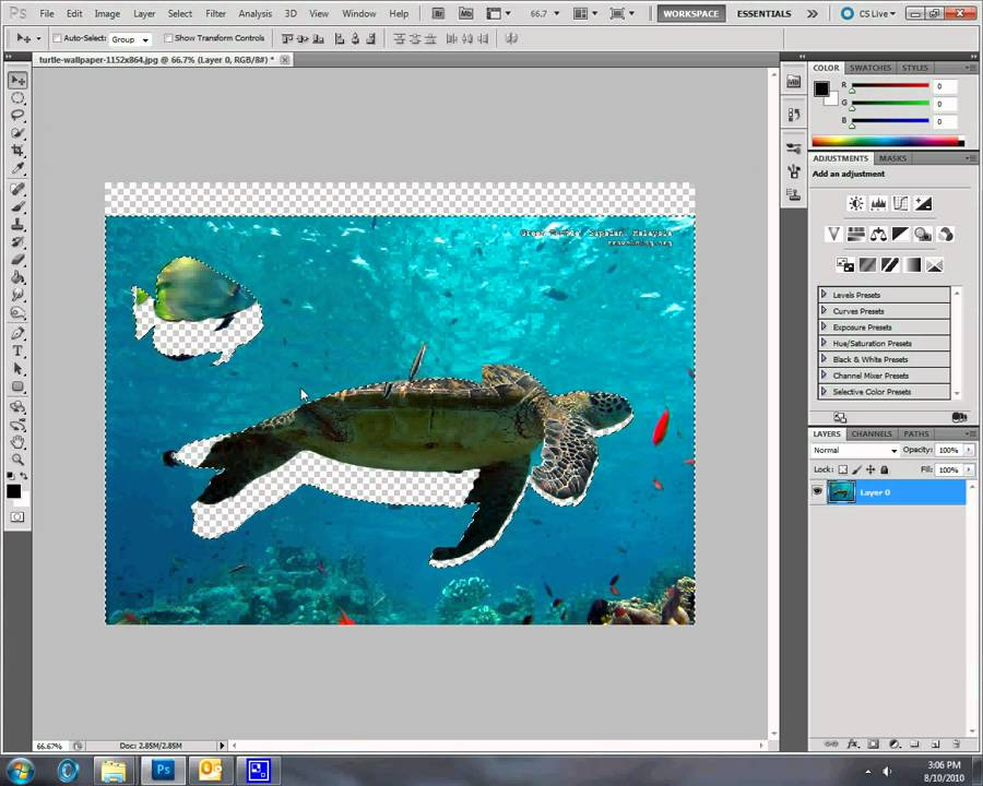 Photoshop CS5 Tutorial - Cutting object out of an image - YouTube