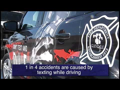 "Glendale Fire unveils new ""Don't Text and Drive"" vehicle"