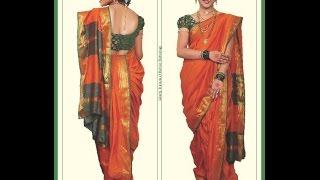 How To Make Bhramani (Maharashtrian) Saree
