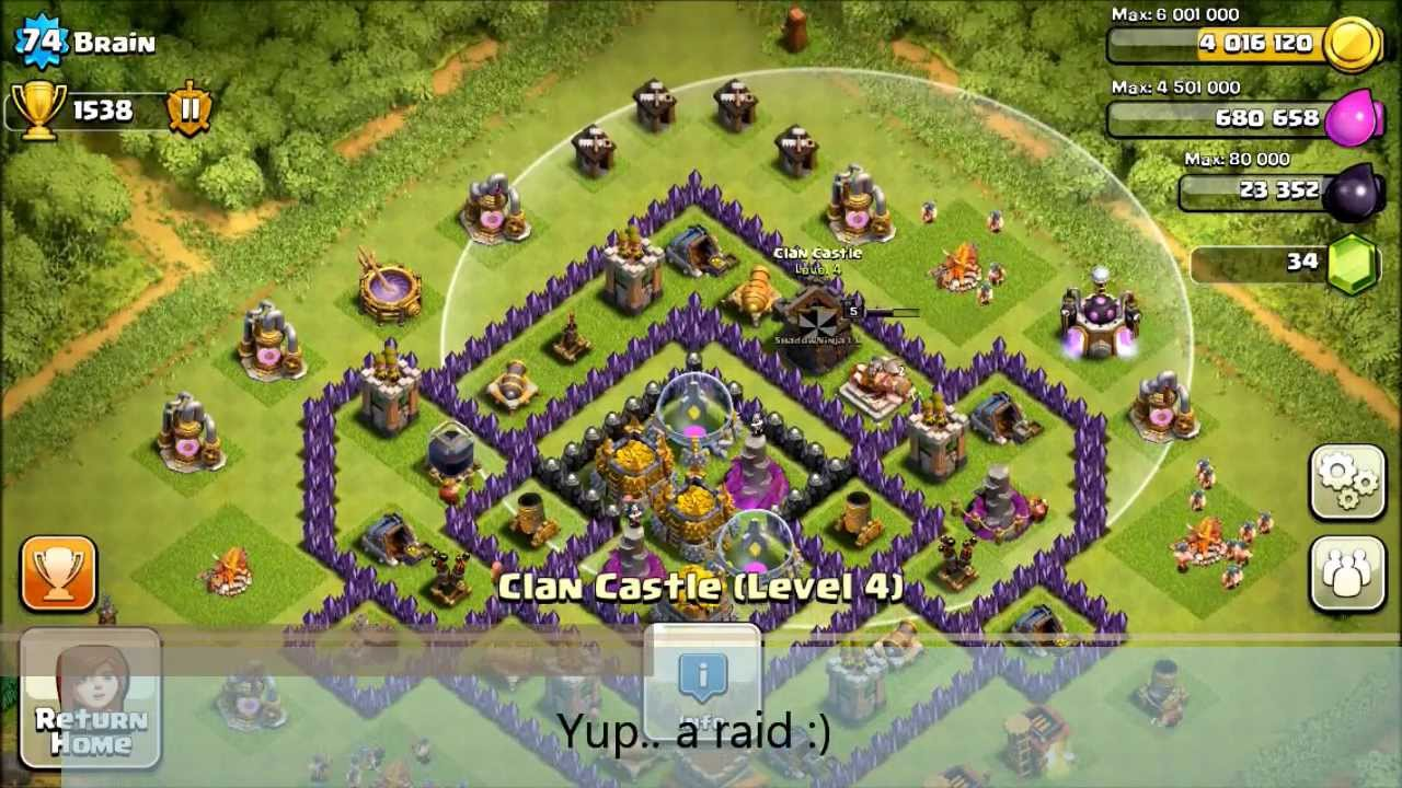 Coc 92nd th8 def 2 epic fail attacks on my pokeball base a little
