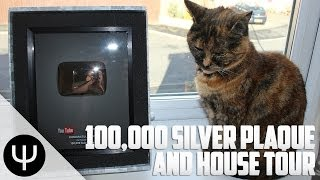 PsiSyndicate 100,000 Subscribers Silver Plaque, Lost Cat and House Tour!