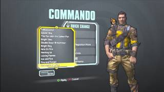 Borderlands 2 All Skins And Heads For The Commando(Axton
