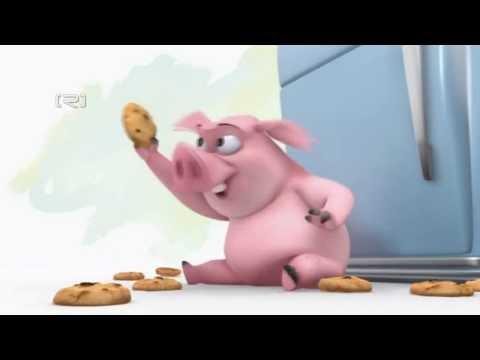 Chú lợn tham ăn