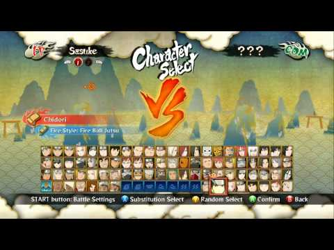 Naruto Shippuden Ultimate Ninja Storm 3: All Characters & Stages