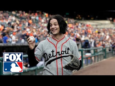 Jack White throws first pitch to Santa for hometown Tigers