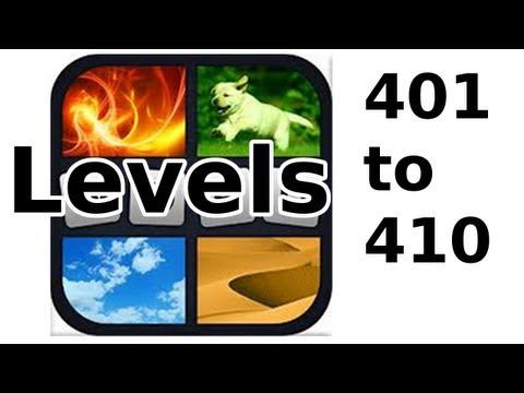 4 Pics 1 Word - Level 401 to 410 - Walkthrough