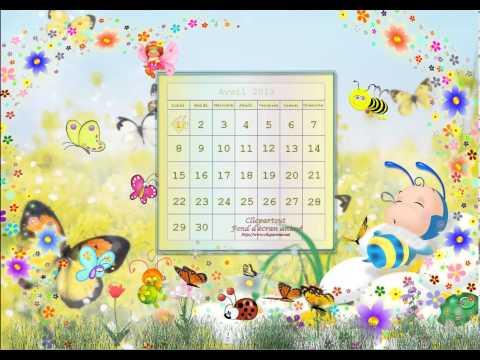 Fond d'écran animé Avril 2013
