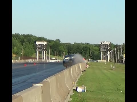 X275 Drag Radial CRASH cecil july 5,2014 on a BYE