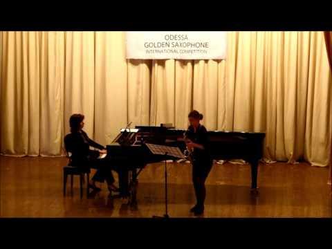 Golden Saxophone 2015 – Yuliya Zhitnuhina – J S Bach Sonata a moll 1 m t