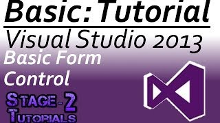 | Visual Studio 2013 (VB.NET) Tutorial [] Basic Form