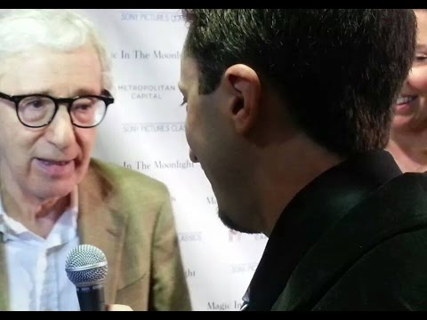 Woody Allen Red-Carpet Interview on 'Magic in the Moonlight'