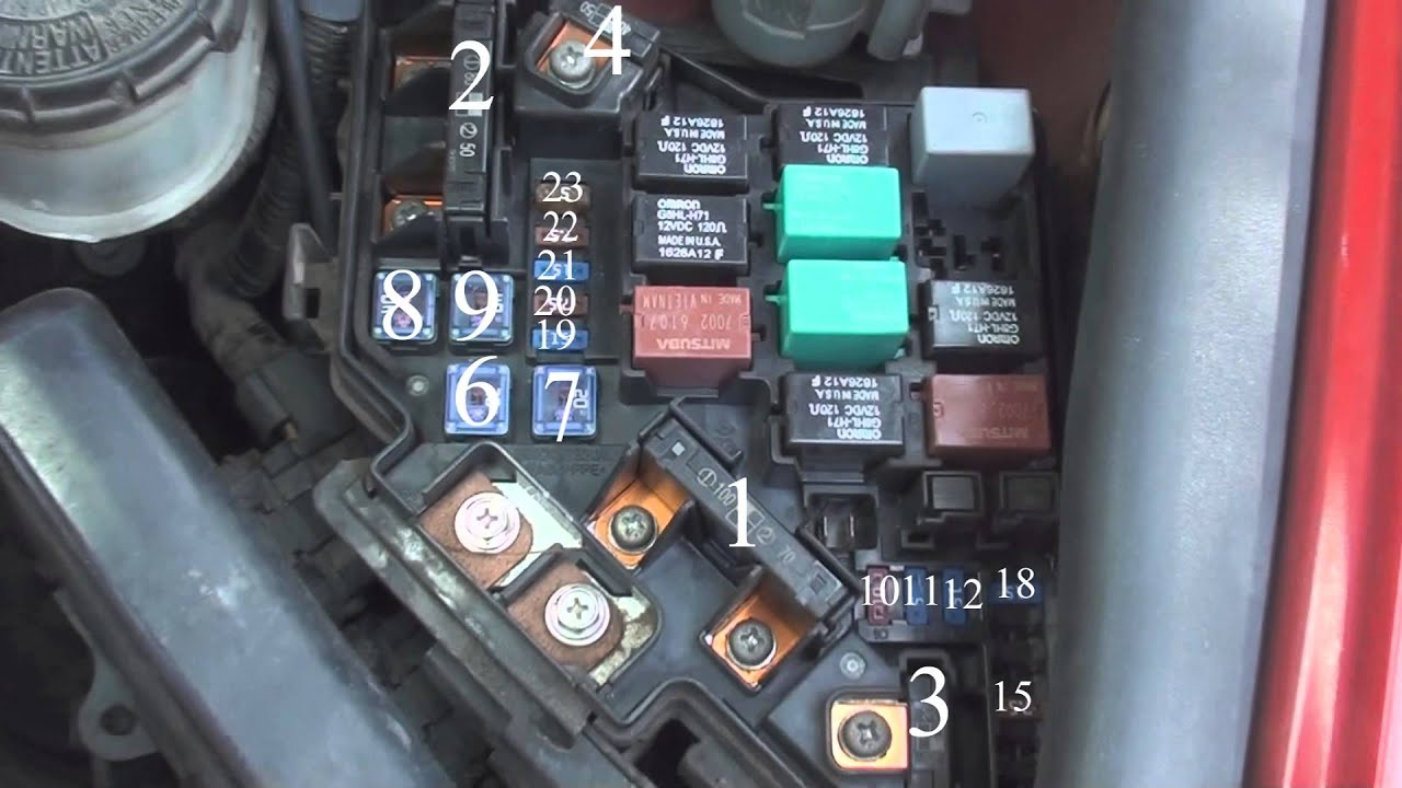fuse diagram honda civic 2006- 2011 - YouTube