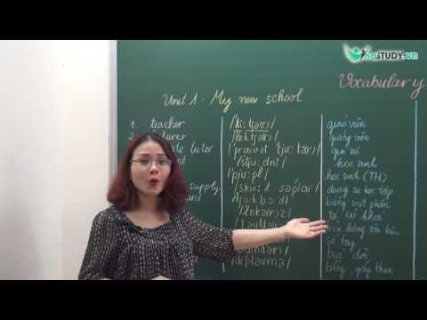 [Vinastudy.vn] Vocabulary - Unit 1: My new school - cô Tô Thủy