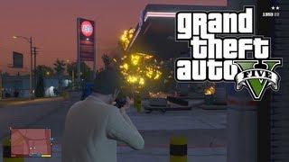 GTA 5: Fun With Gasoline! Big Explosions! (GTA V)