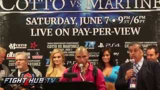 Cotto Vs. Martinez Full Post Fight Press Conference Video