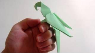 Origami papağan yapımı - papağan yapılışı