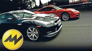 Vergleich Nissan GTR vs. Porsche 911 Turbo Patrick Simon ver videos
