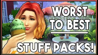 Worst to Best Stuff Packs - My Rankings!   The Sims 4 (May 2018)