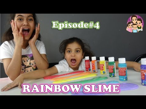 HOW TO MAKE SLIME AT HOME#4: Rainbow Slime/ 4 Kids Toy Review
