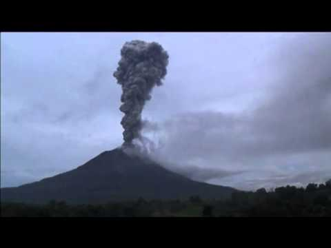 Indonesia's Mount Sinabung Erupts Multiple Times