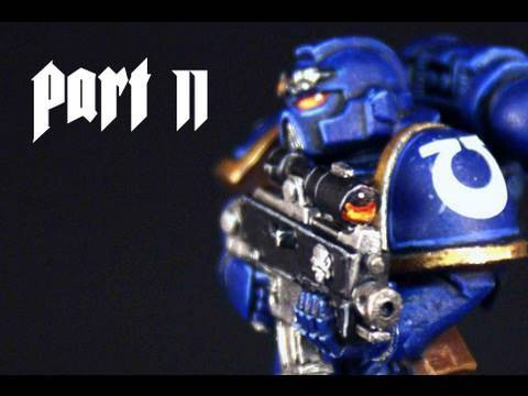 How to paint Ultramarines Space Marine part 2 by Lester Bursley