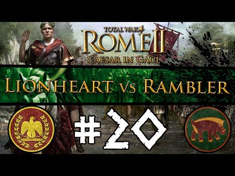 Total War: Rome II - Caesar In Gaul: Multiplayer Campaign vs The Rambler ~ #20