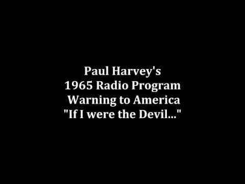 The Devil Paul Harvey 1965 If I Was
