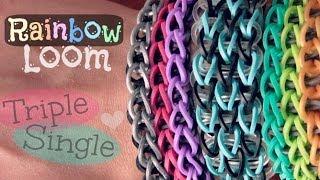 Rainbow Loom : Triple Single Bracelet How To
