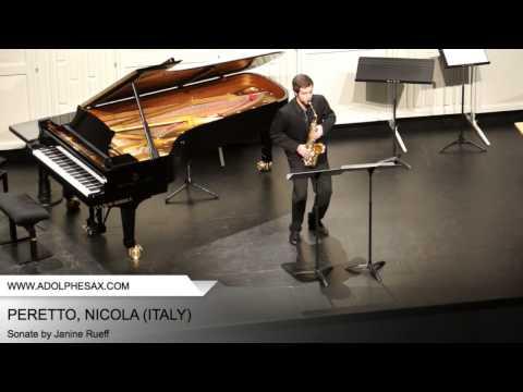 Dinant 2014 - PERETTO, Nicola (Sonate by Janine Rueff)