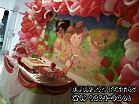 Decoração de festa de aniversário - Moranguinho