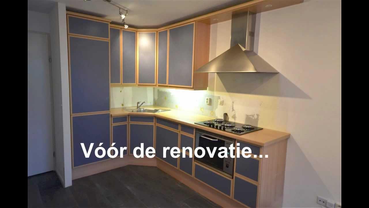 Keuken Fineer Schilderen : Keukenrenovatie in Papendrecht – YouTube