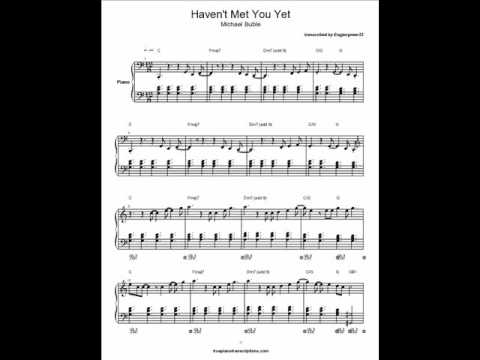 Havent Met You Yet by Michael Buble (piano cover and sheet...