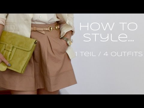 How to style...  1 Teil / 4 Outfits  [ Lederrock ]