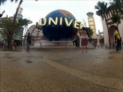Timelapse at Universal Studio Singapore Globe