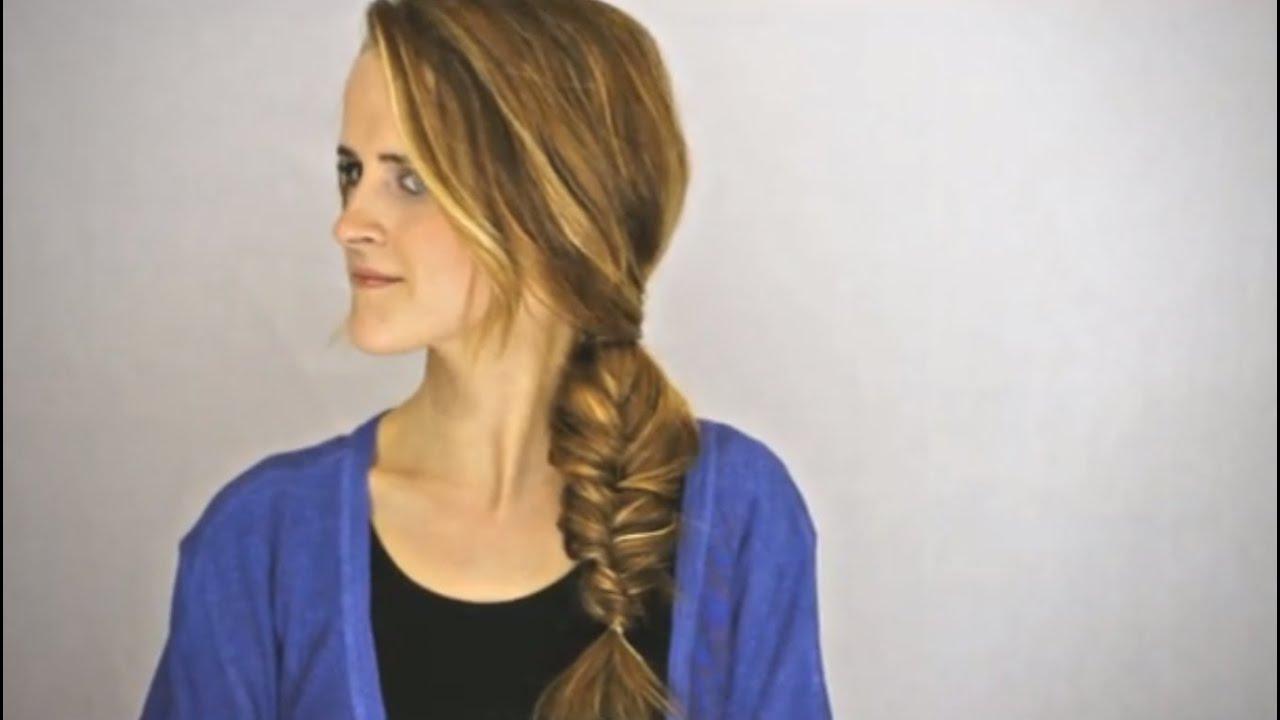 Fancy Fishtail Braid Hair Tutorial - YouTube