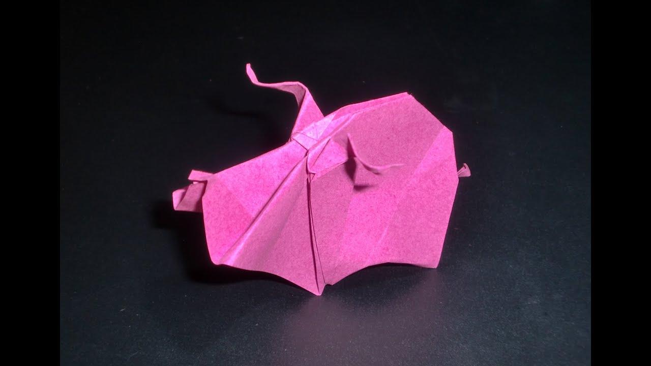 origami schwein papiertiere vom bauernhof faltanleitung. Black Bedroom Furniture Sets. Home Design Ideas