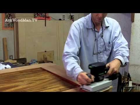 How To Sand Across Joints / Sanding Basics - SOLID WOOD DOOR SERIES - Video 12