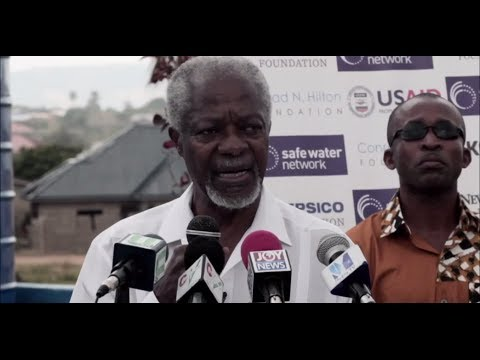Kofi Annan Speaking at Safe Water Network's Water Station in Obeyeyie, Ghana
